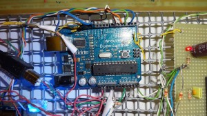 The Arduino with the control program of the entire home automation system.