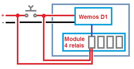 Power supply detail for opengate WiFi with Wemos D1