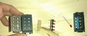 I pezzi necessari per modificare gli interruttori.
