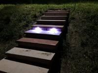 Come si presenta il gradino con le luci led accese