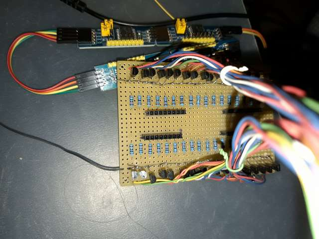LED driving board for PCF8574 modules